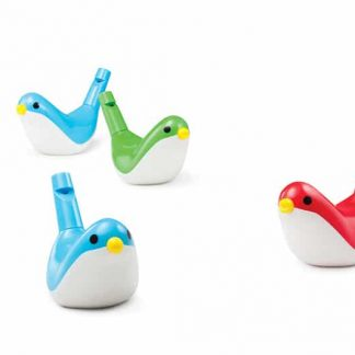 Bird whistle encourages lip pursing and blowing