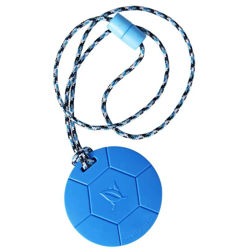 Soccer ball inspired chewlery for chewers