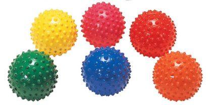 Easy-to-grip soft bumpy ball