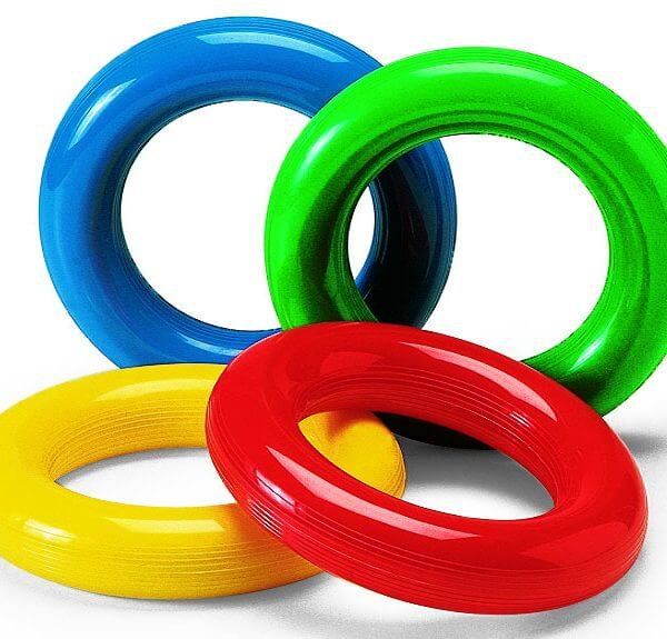 Easy-to-grasp Gym Rings for active play