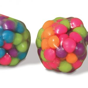 Squeezable bead ball reduces stress strengthens hands