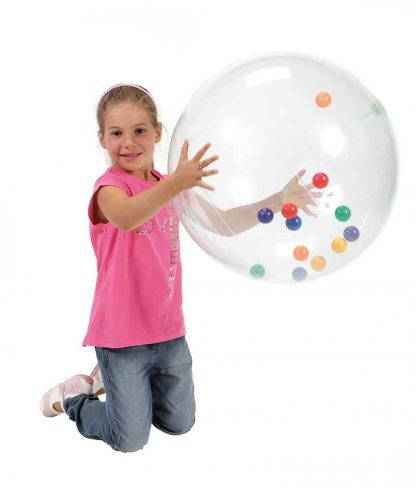 Large clear ball with 12 bright balls inside