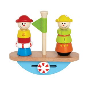Stack and balance cargo on toy boat