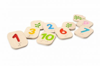 Braille number tiles 1-10