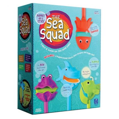 Sealife puppets-on-a-stick develop language skills