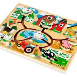 Farm maze puzzle develops fine motor skills