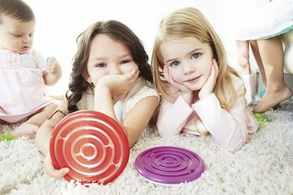 Marble Maze Duo, tone red, one purple
