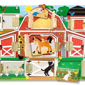 open barn doors farm puzzle