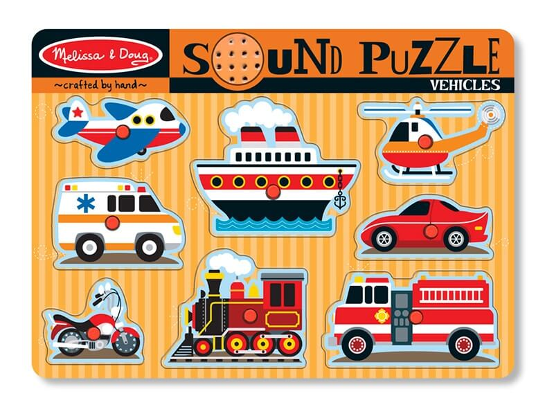 Vehicles sound peg puzzle