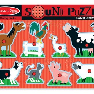 Farm animal sound peg puzzle
