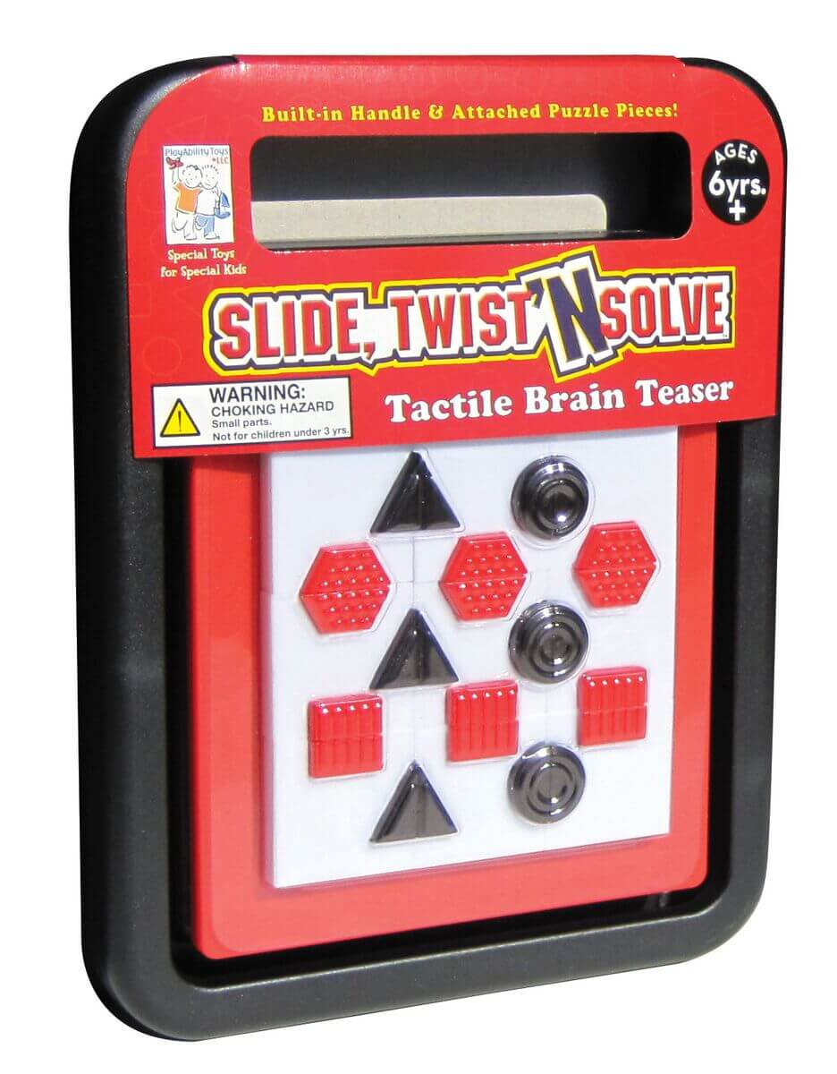Tactile slide twist and solve puzzle