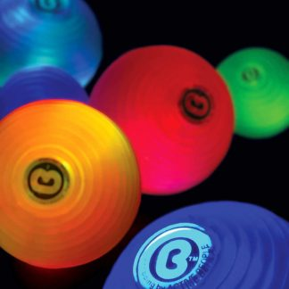 Ribbed balls light-up in colors