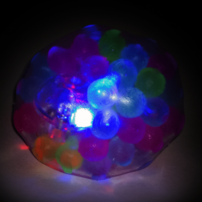 Light up multi-color squeeze ball