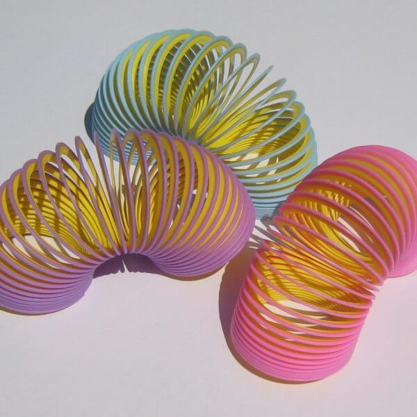 Two pastel colors in one Slinky junior