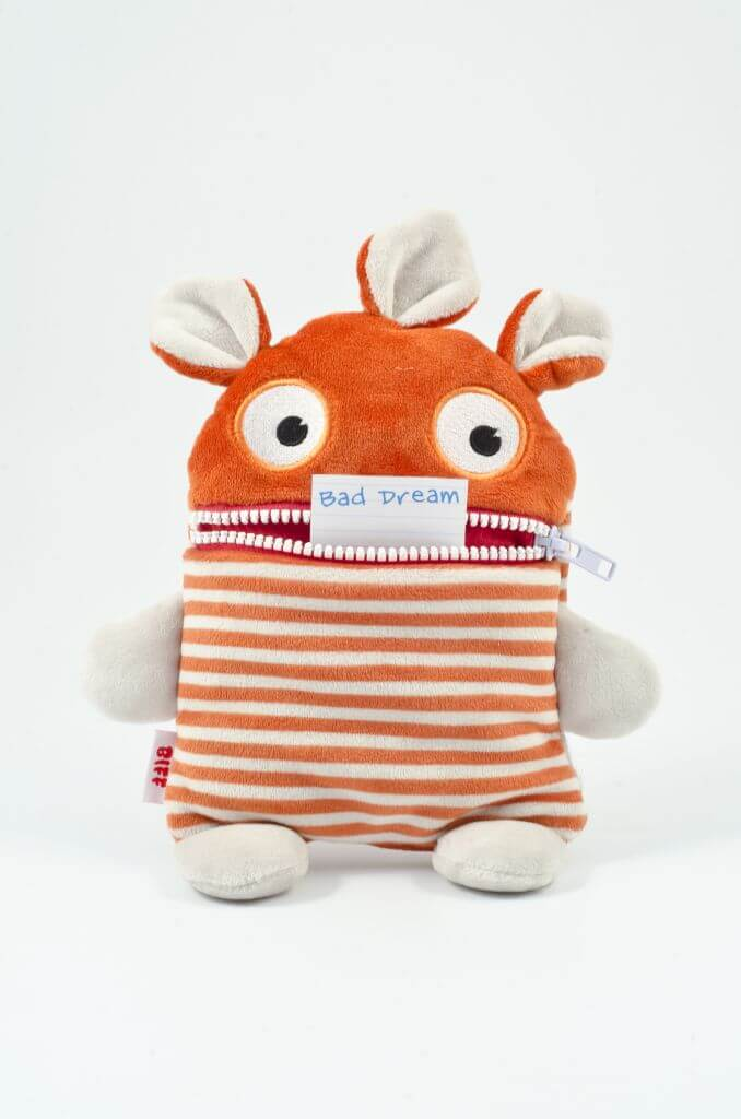 plush toy with zipper mouth that holds your worries