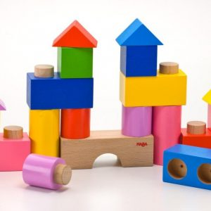 stacking blocks with plugs and dowels