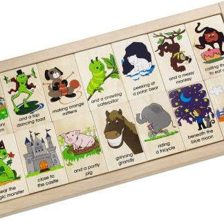 double sided story wooden blocks