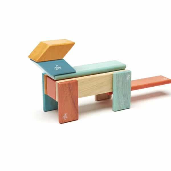 magnetic wooden blocks for open-ended play