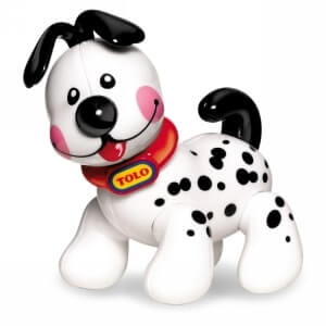 dalmatian figure with posable clicking limbs