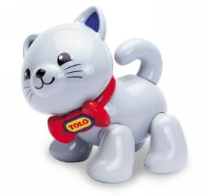 cat figure with posable clicking limbs