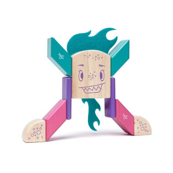 magnetic wooden blocks create Tegu Sticky Monster Finklebear
