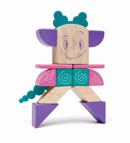 magnetic wooden blocks create Tegu Sticky Monster Marbles