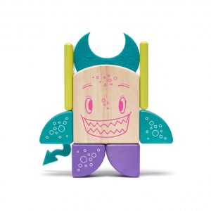"wooden magnetic blocks for building tegu ""sticky monster"" pip"