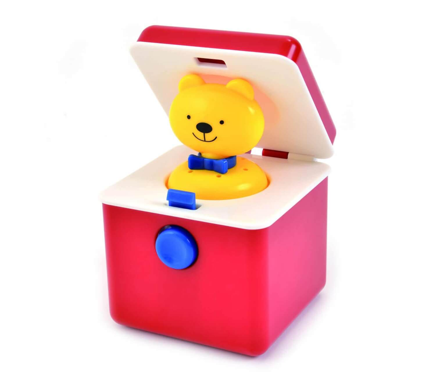 Compact Ted-in-a-Box pop up toy