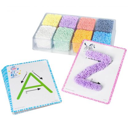 Playfoam for forming letters on alphabet cards
