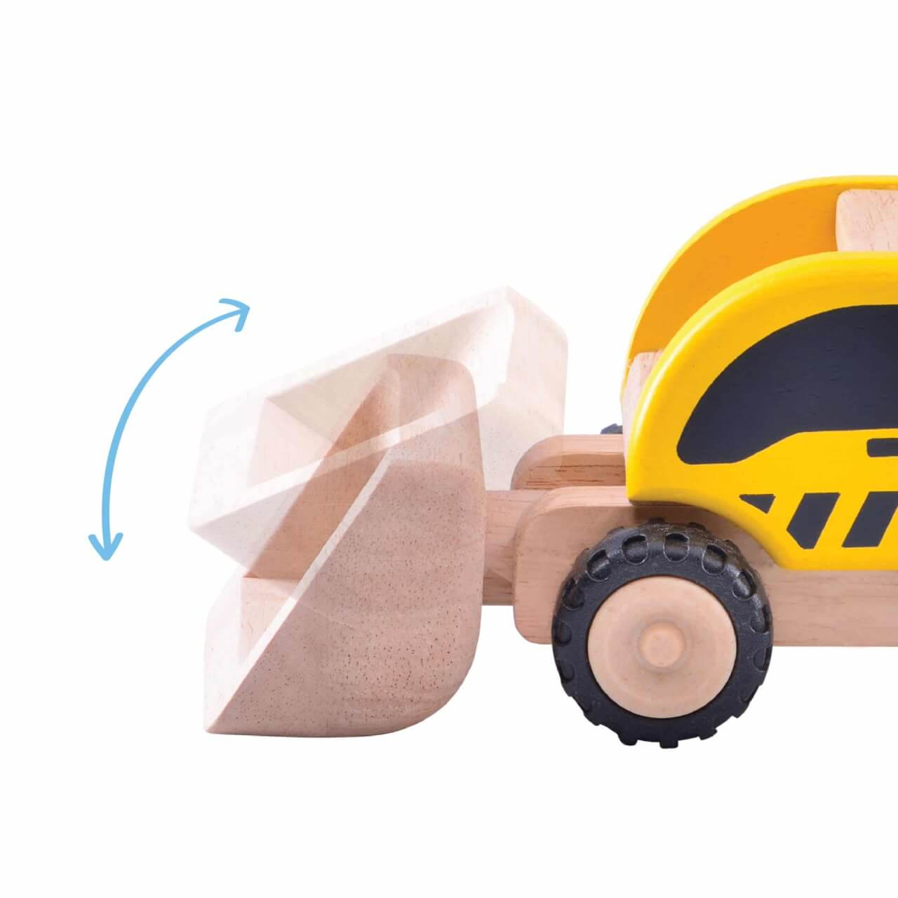 5-inch wooden front-end loader for imaginative play