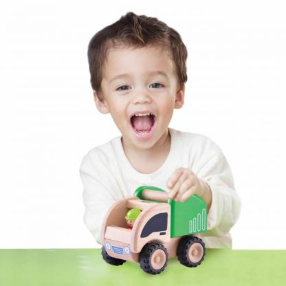 5-inch wooden dump truck for imaginative play
