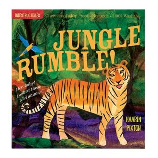 Indestructibles Jungle Rumble wild animal picture book
