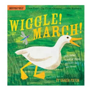 Indestructibles Wiggle! March! animal picture book