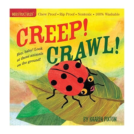 Indestructibles Creep! Crawl! picture book