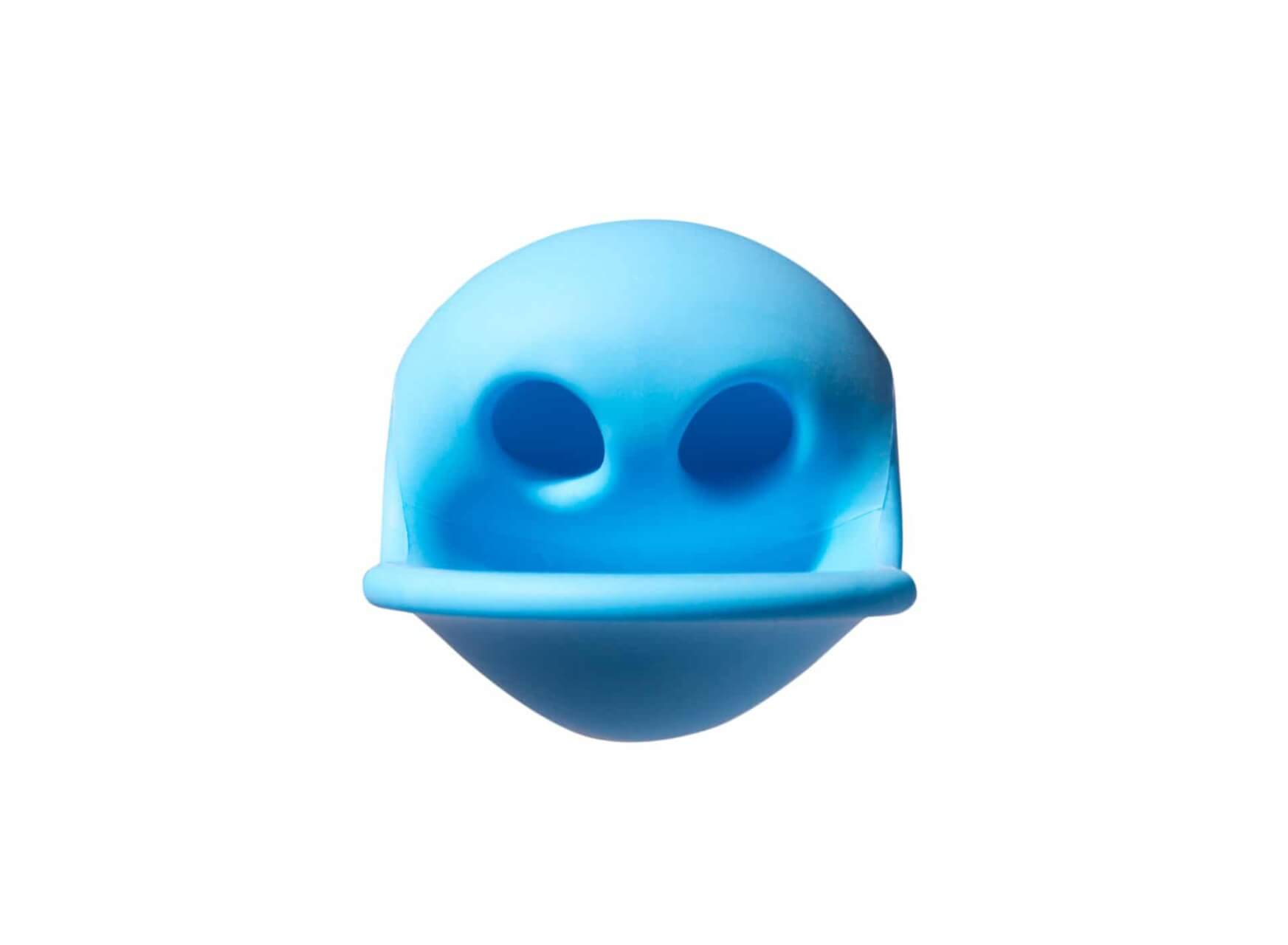grumpy face made using silicone ball