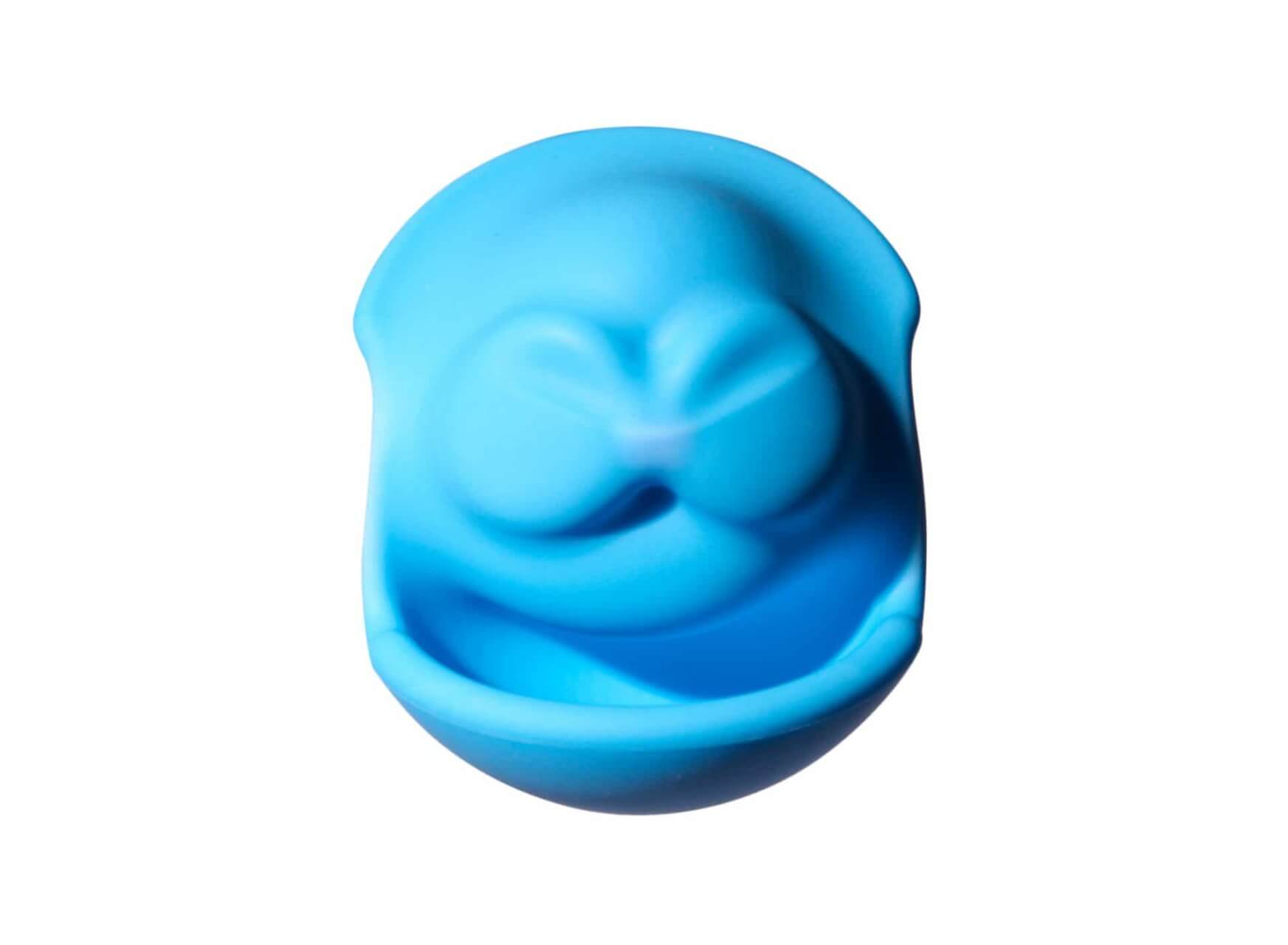 scary face made using silicone ball