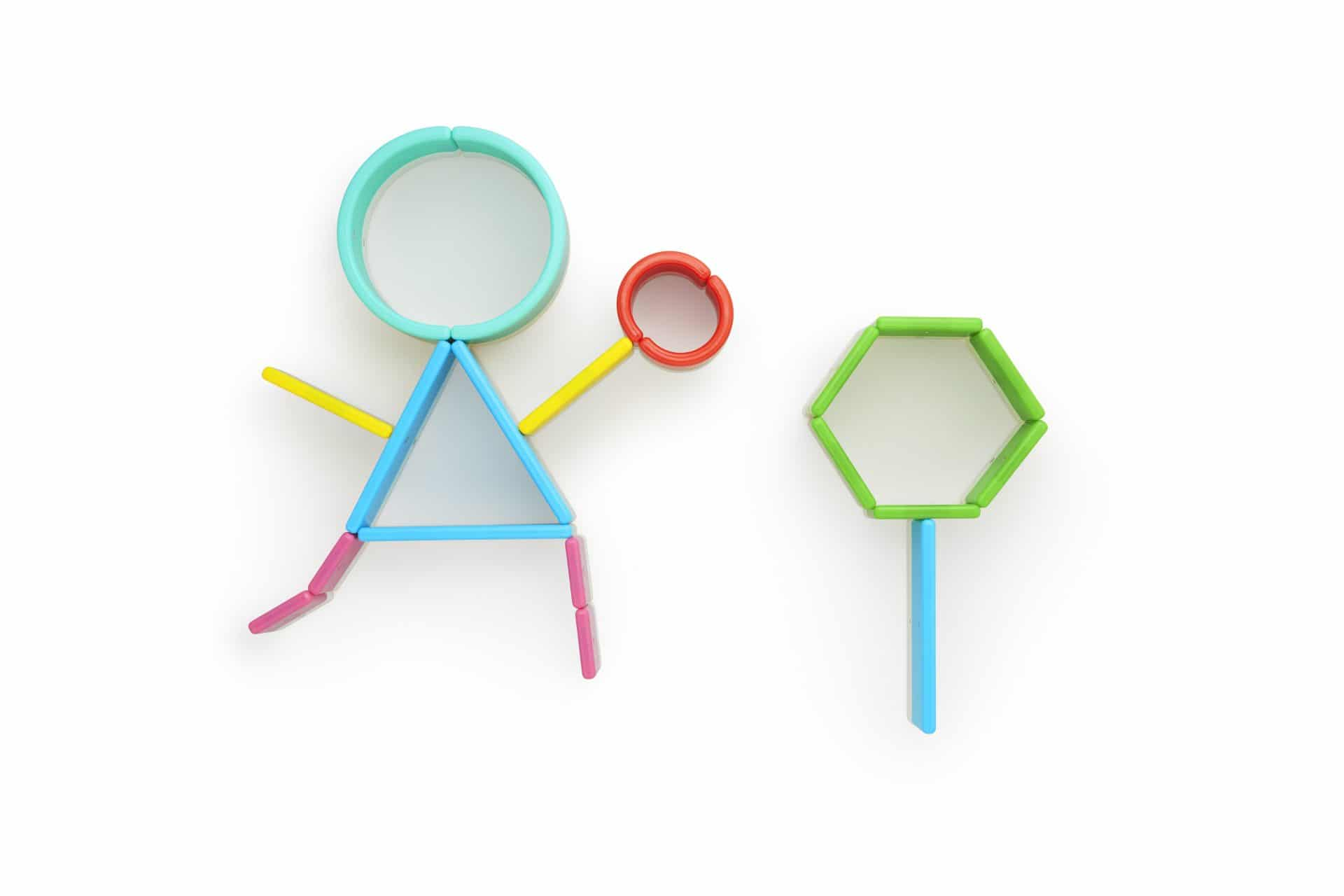 magnetic shapes to forming letters and free play
