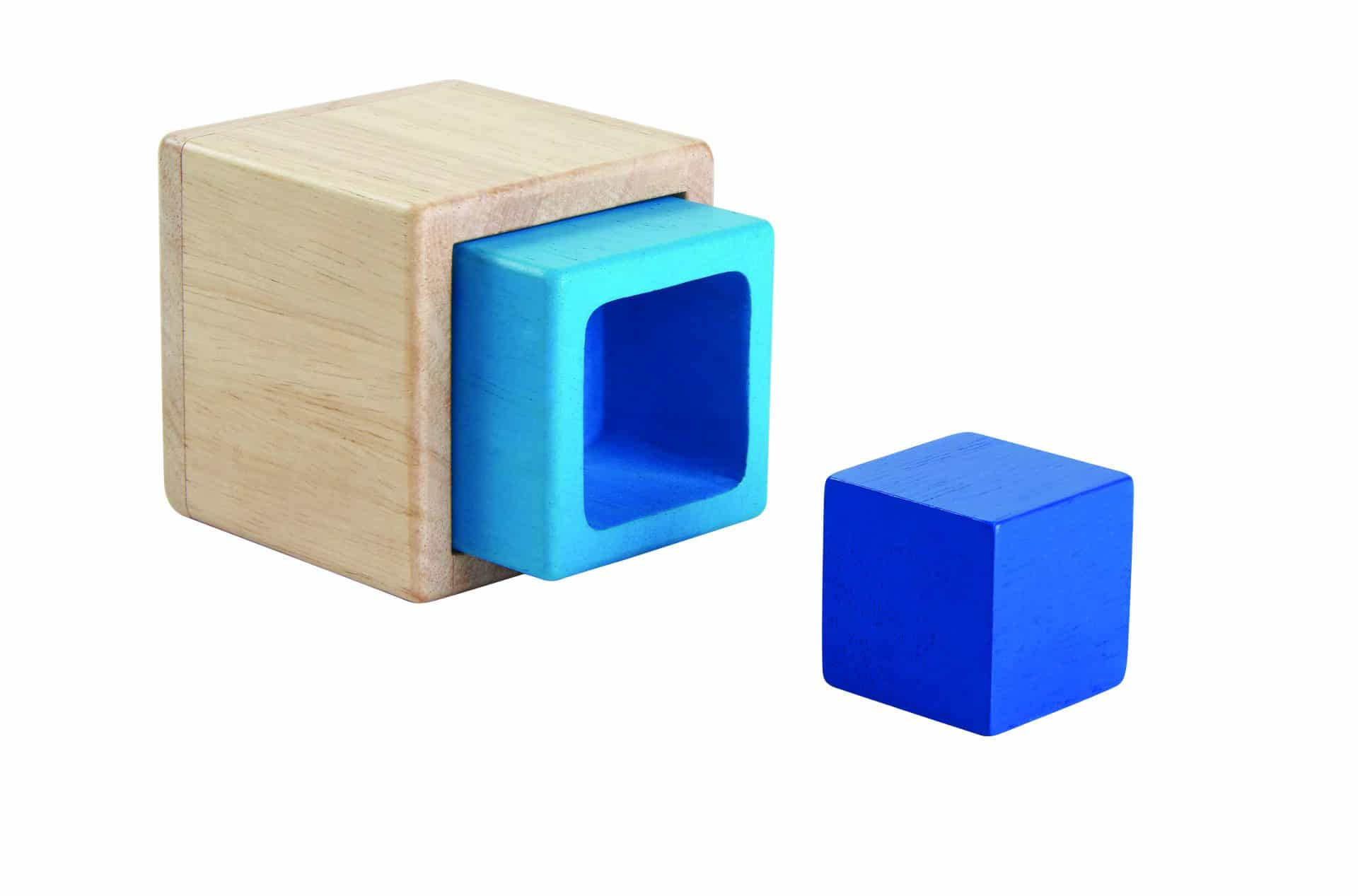 trio of wooden boxes to nest and stack