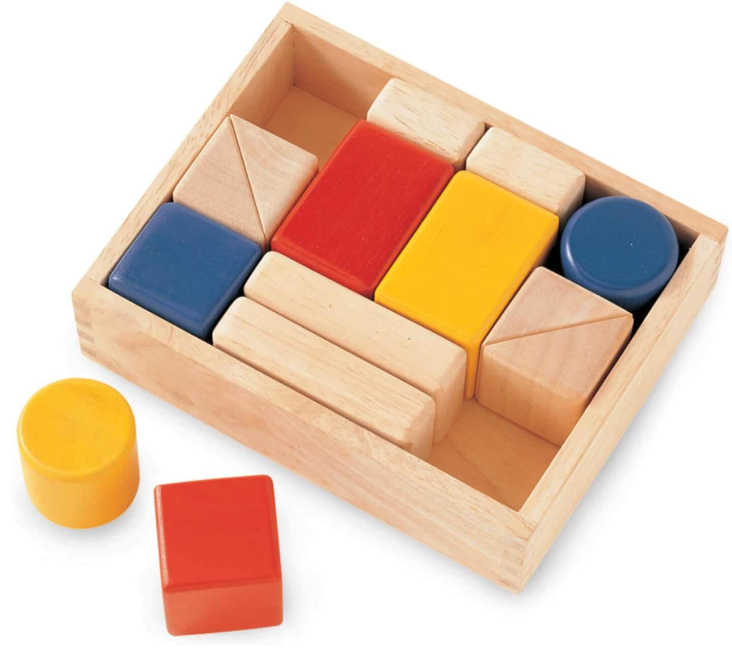 Wooden building blocks with hidden sounds