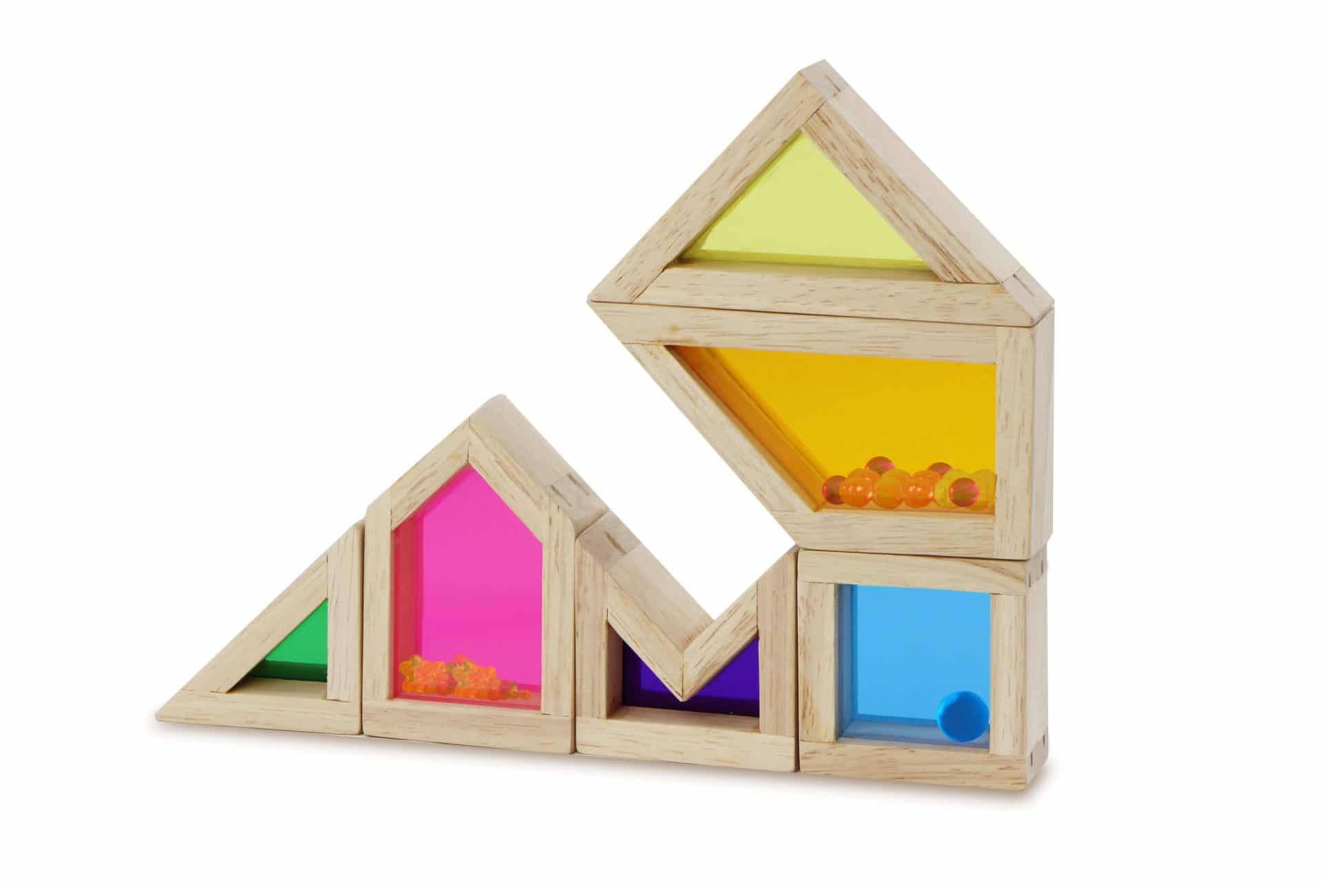Wooden framed color sound blocks