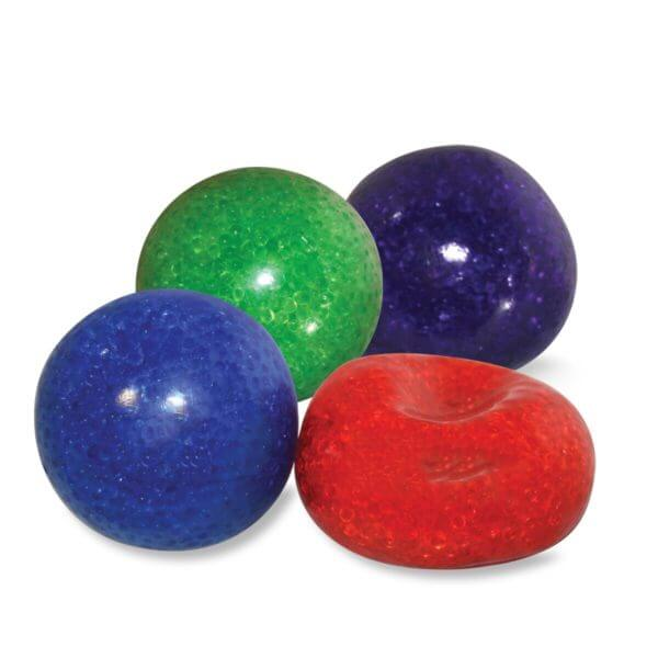 Squeezable bead ball reduces stress strengthens hand