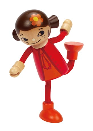 Posable modern family play figure-mom