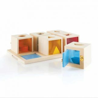 Peekaboo Lock Boxes build fine motor skills.