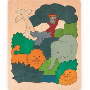 African animals 2-layer wooden puzzle