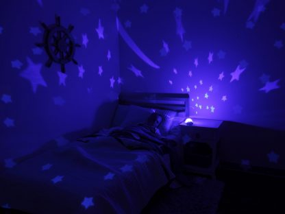 Plastic turtle nightlight projecting stars