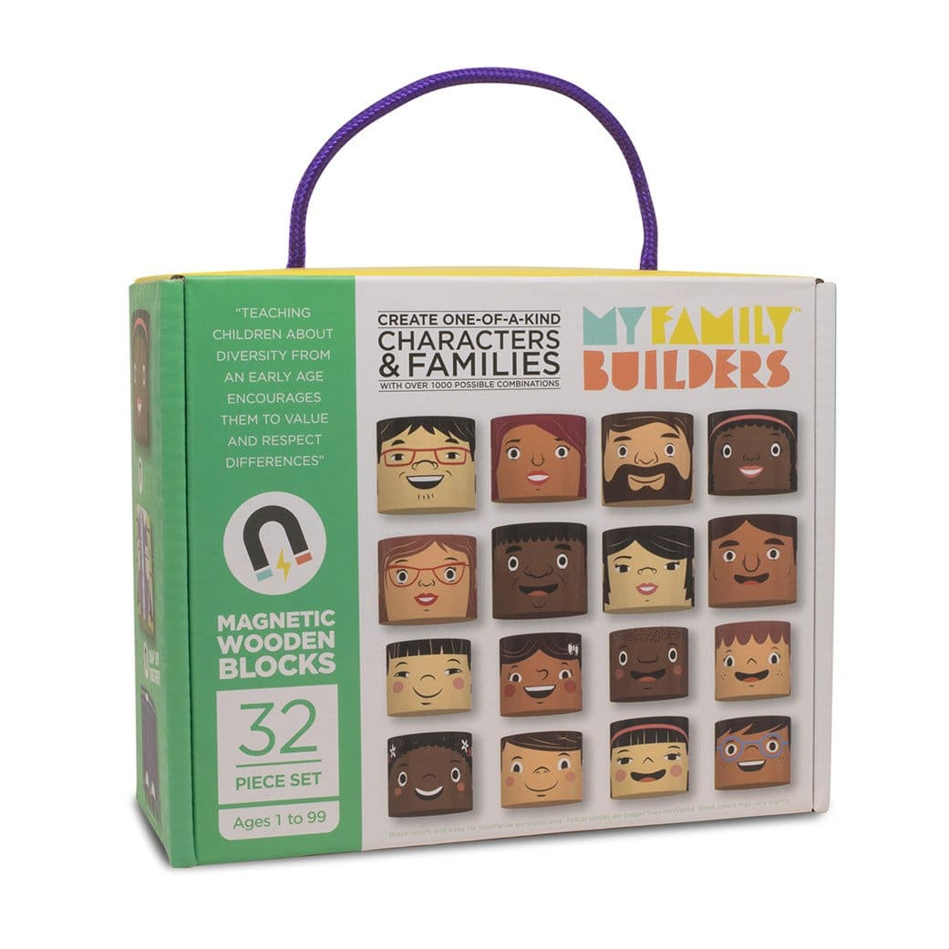 Magnetic wooden people blocks