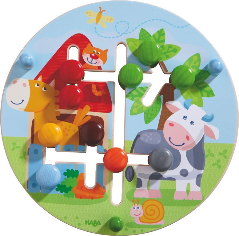 Wooden motor skills board farm theme