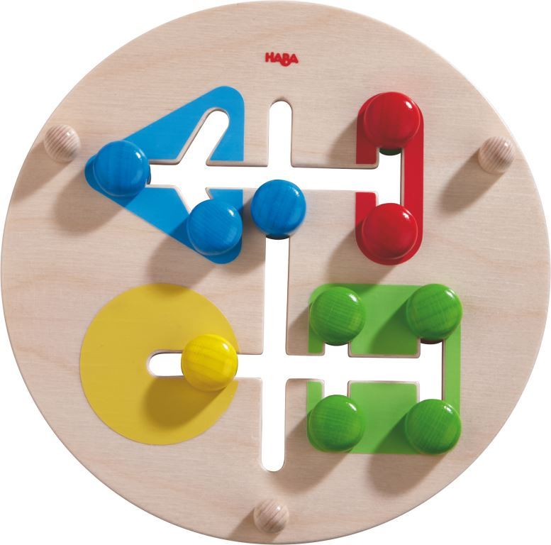 Wooden motor skills board color matching