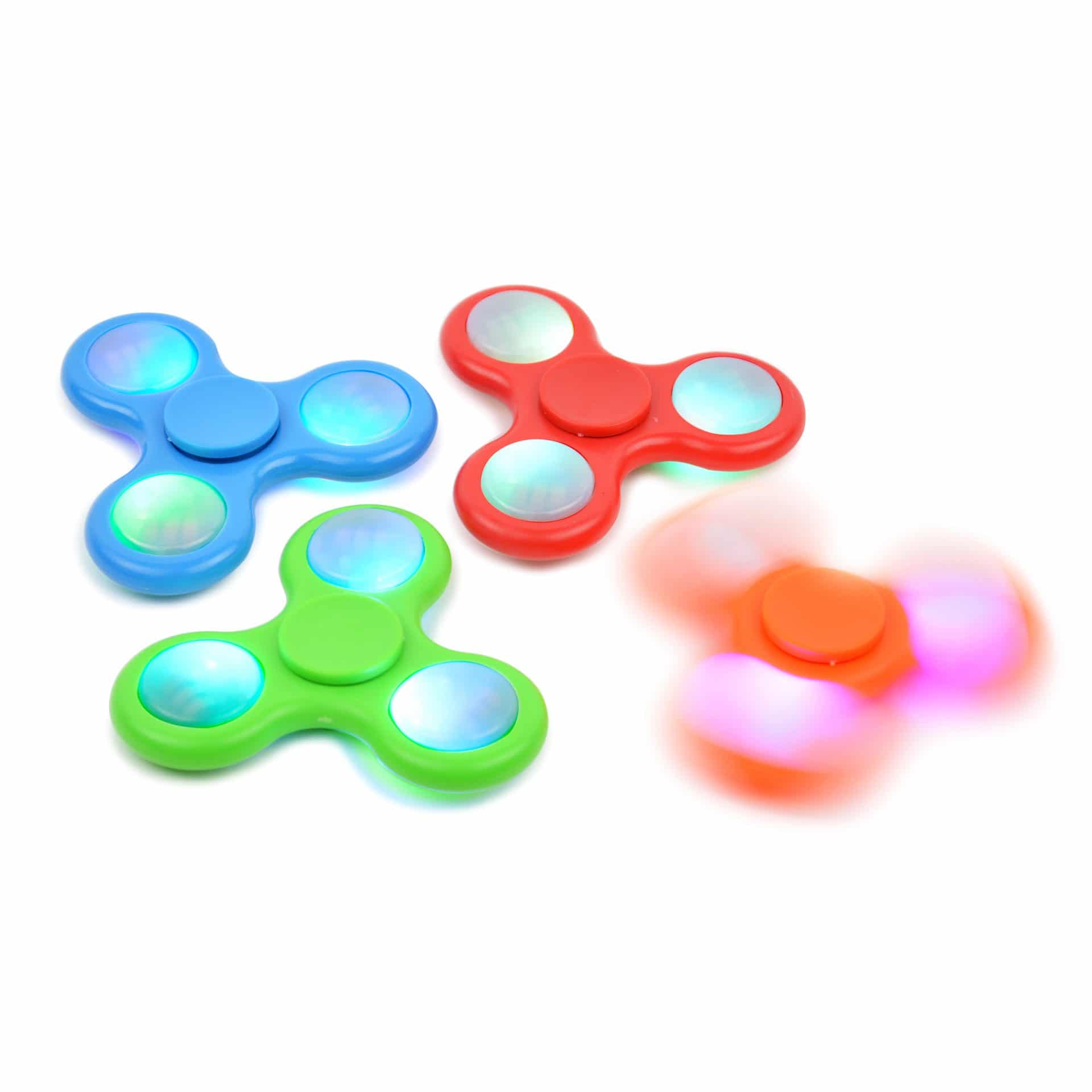 Light up spinning fidget toy