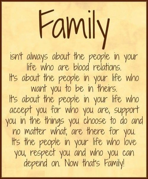quote about what makes a family